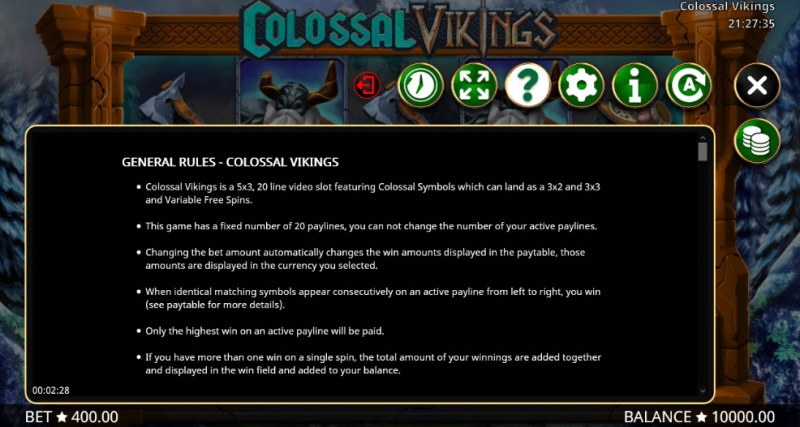 Colossal Vikings :: General Game Rules