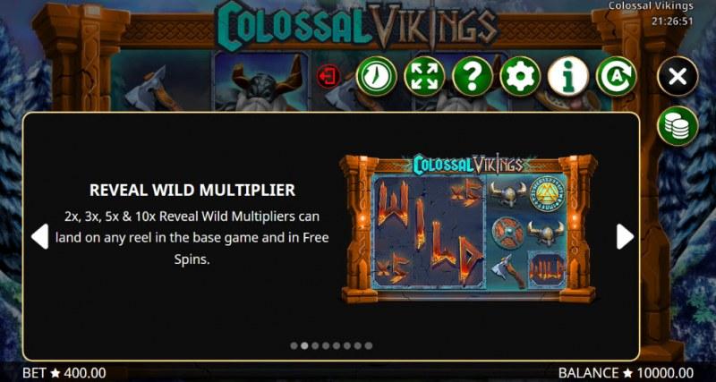 Colossal Vikings :: Reveal Wild Multiplers
