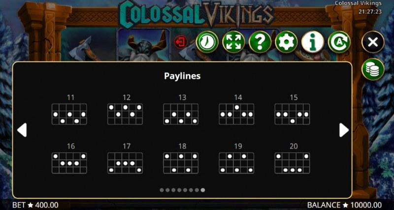 Colossal Vikings :: Paylines 11-20