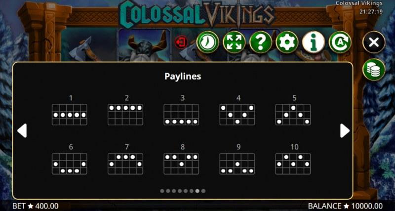 Colossal Vikings :: Paylines 1-10