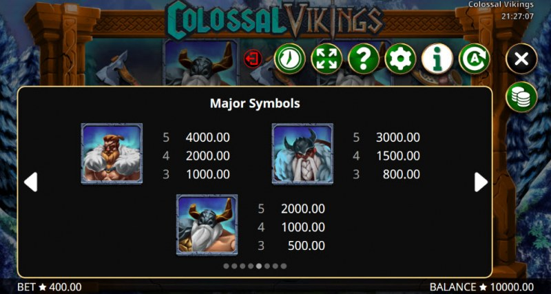 Colossal Vikings :: Paytable - High Value Symbols