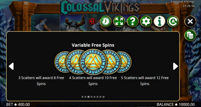 Colossal Vikings :: Free Spins Rules