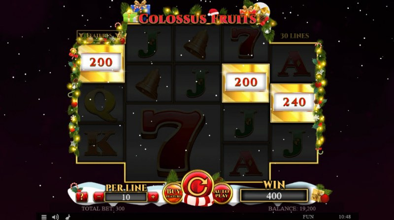 Colossus Fruits Christmas Edition :: Total bonus payout