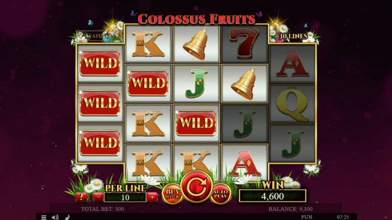 Colossus Fruits Easter Edition :: Multiple winning combinations leads to a big win