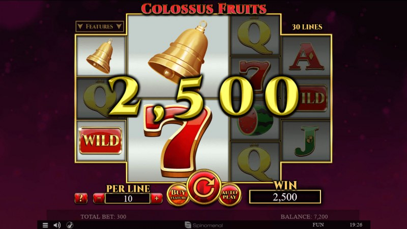 Colossus Fruits :: Multiple winning paylines