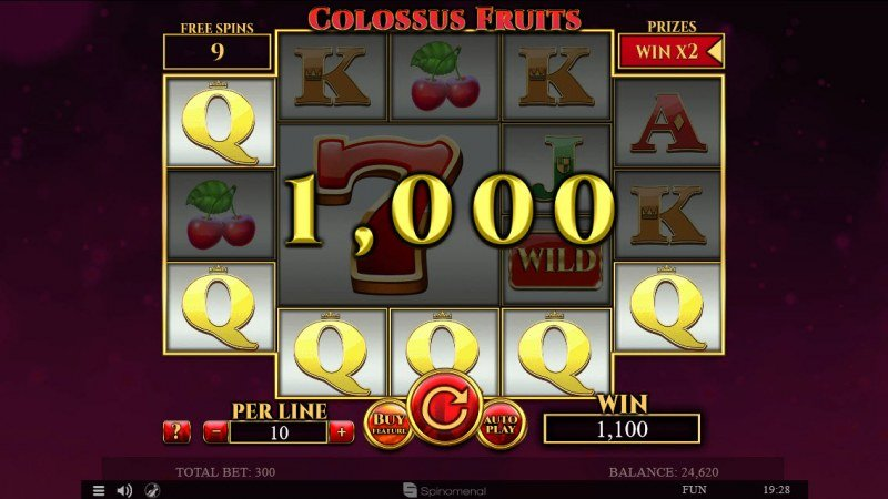 Colossus Fruits :: Free Spins Game Board