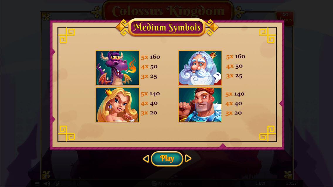 Colossus Kingdom :: Paytable - High Value Symbols