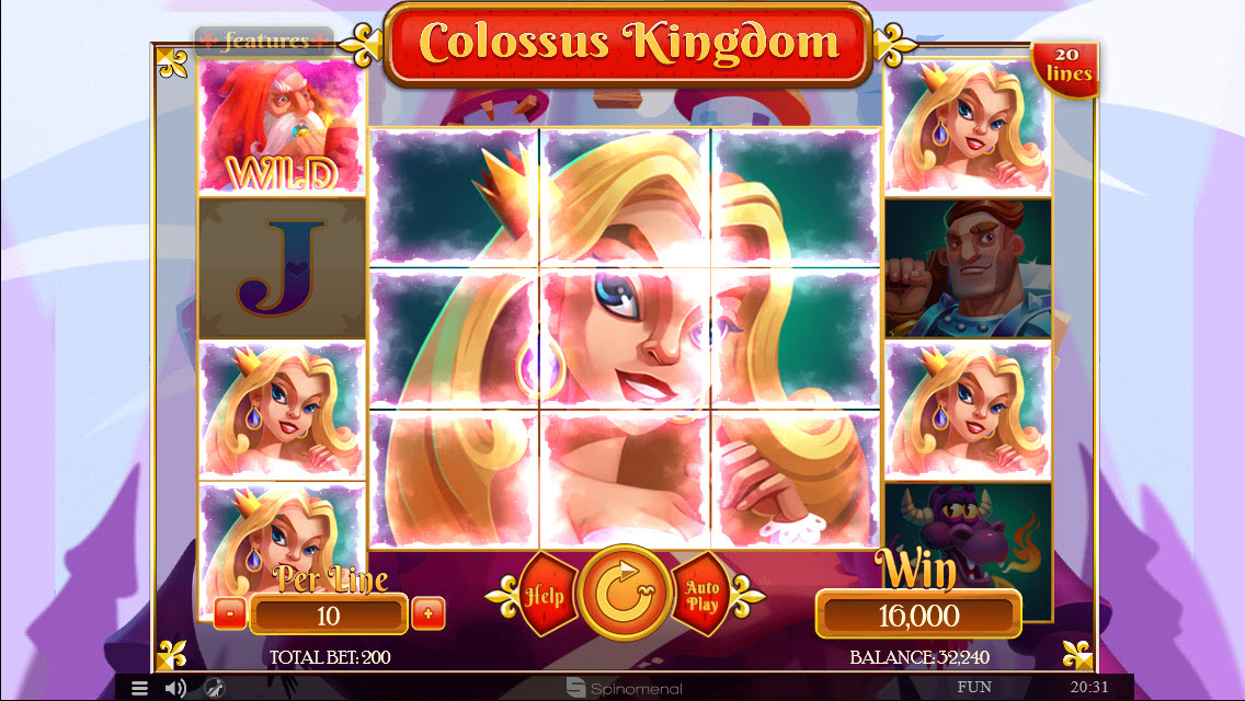 Colossus Kingdom :: Multiple winning combinations leads to a big win