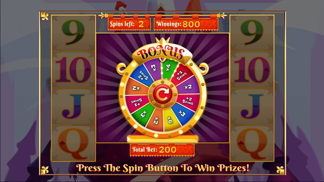 Colossus Kingdom :: Spin the wheel to win cash multipliers