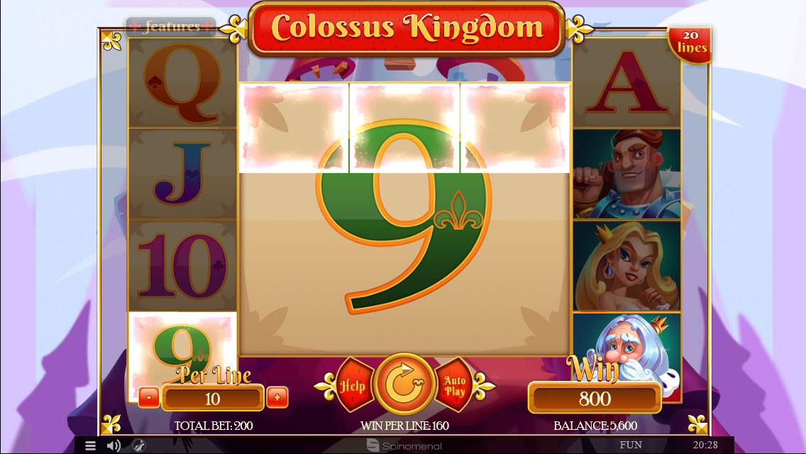 Colossus Kingdom :: Multiple winning paylines