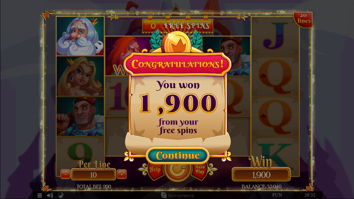 Colossus Kingdom :: Total free spins payout