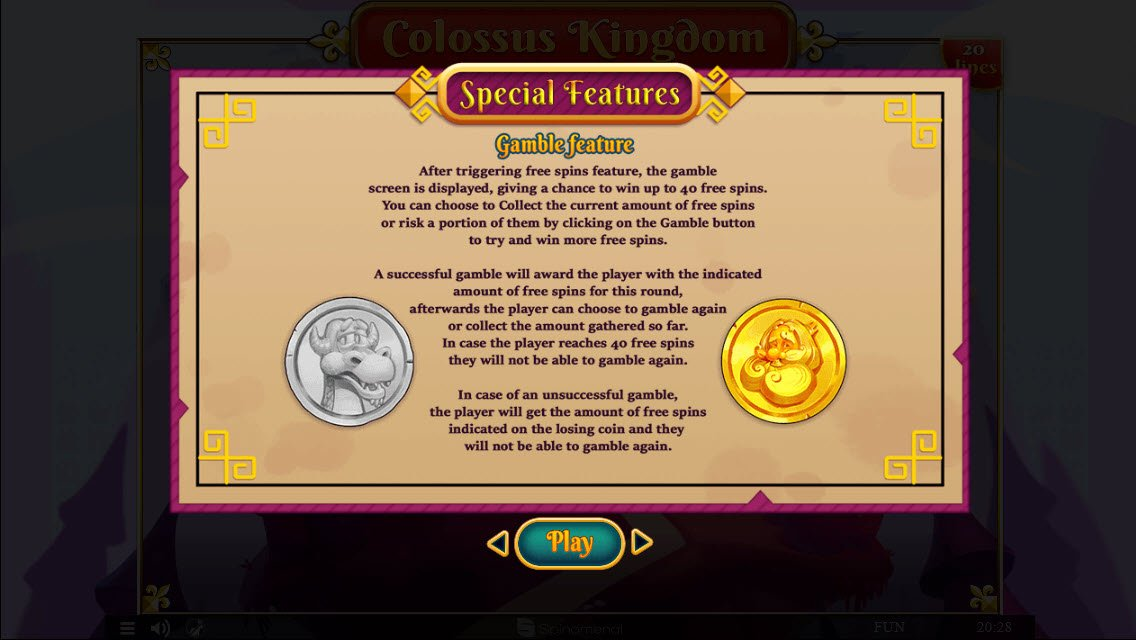 Colossus Kingdom :: Gamble Feature Rules