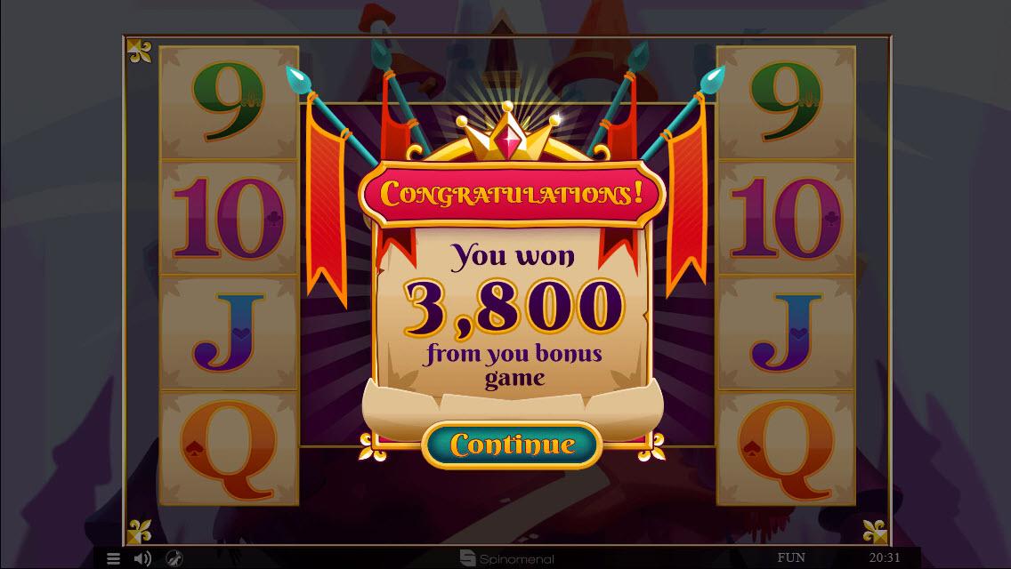 Colossus Kingdom :: Total bonus payout