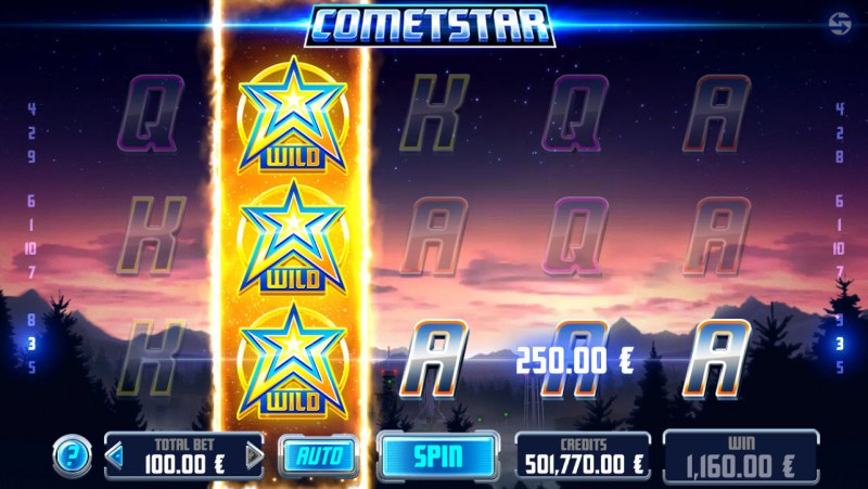 CometStar :: Respin triggers a four of a kind