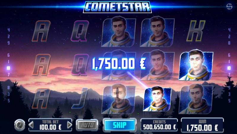 CometStar :: Multiple winning combinations leads to a big win