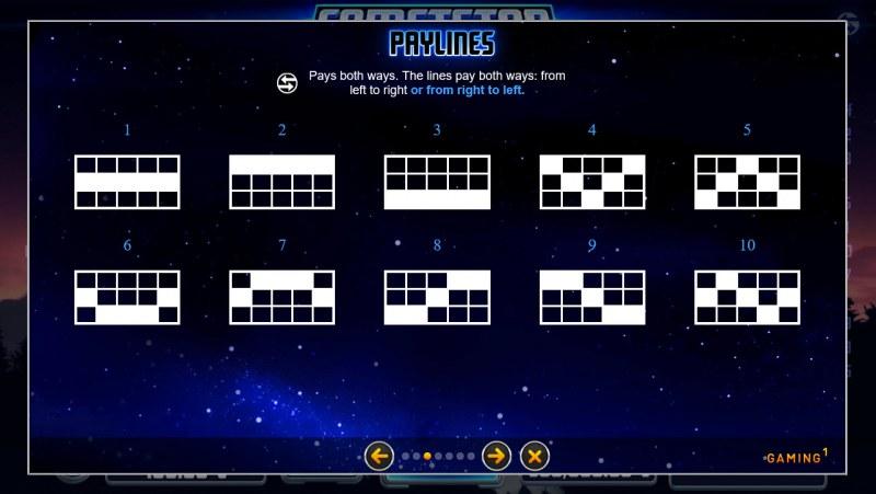 CometStar :: Paylines 1-10