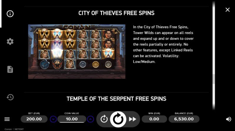 Conan :: Free Spins Rules