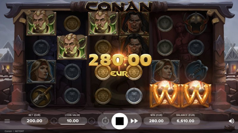 Play slots at Moon Games: Moon Games featuring the Video Slots Conan with a maximum payout of $200,000