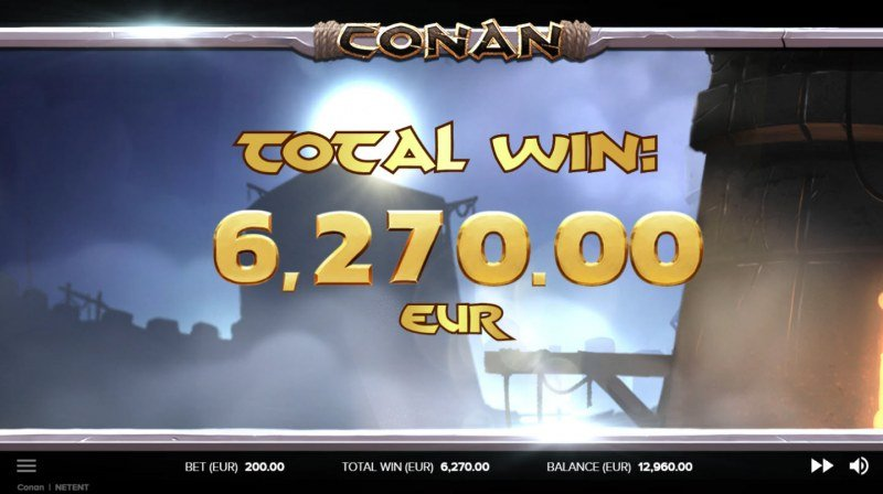 Conan :: Total free spins payout