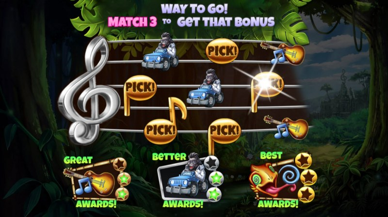 Congo Bongo :: Match three colored jewels and win the corresponding prize
