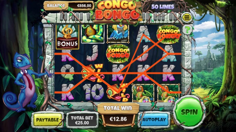 Congo Bongo :: Multiple winning paylines