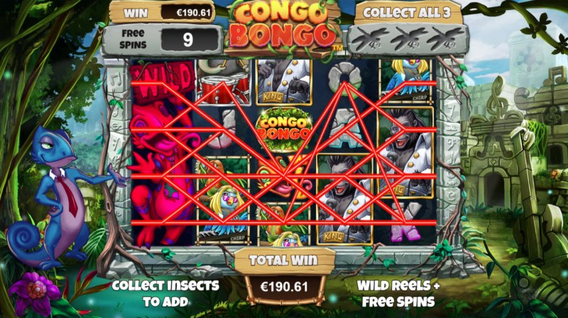 Congo Bongo :: Free Spins Game Board