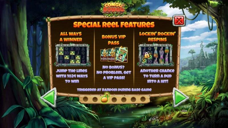 Congo Bongo :: Special Reel Features
