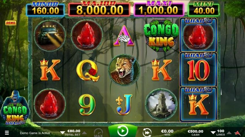 Congo King Quad Shot :: Main Game Board