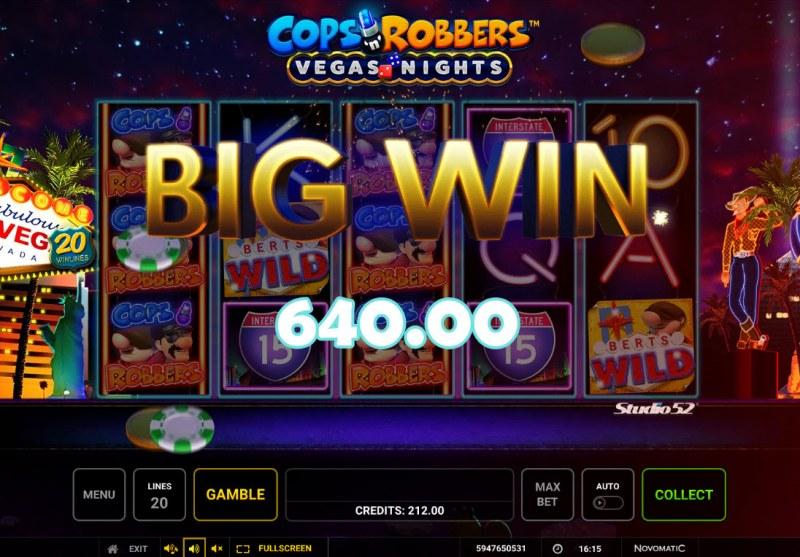 Cops & Robbers Vegas Nights :: Big Win
