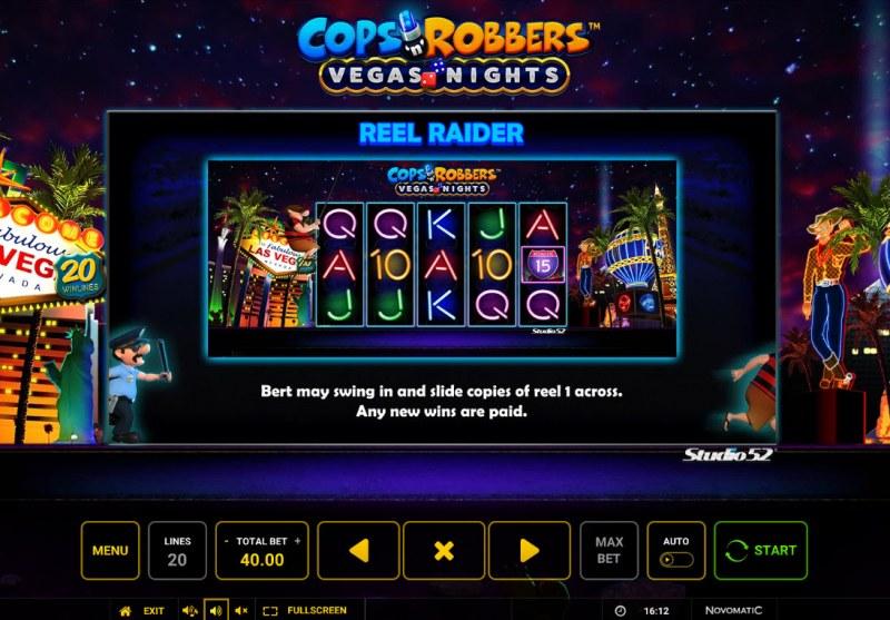 Cops & Robbers Vegas Nights :: Reel Raider Feature