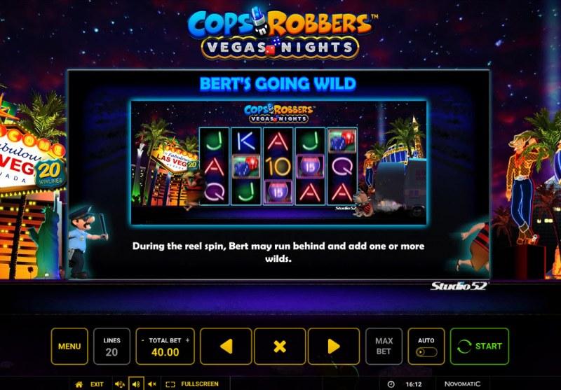 Cops & Robbers Vegas Nights :: Berts Going Wild Feature