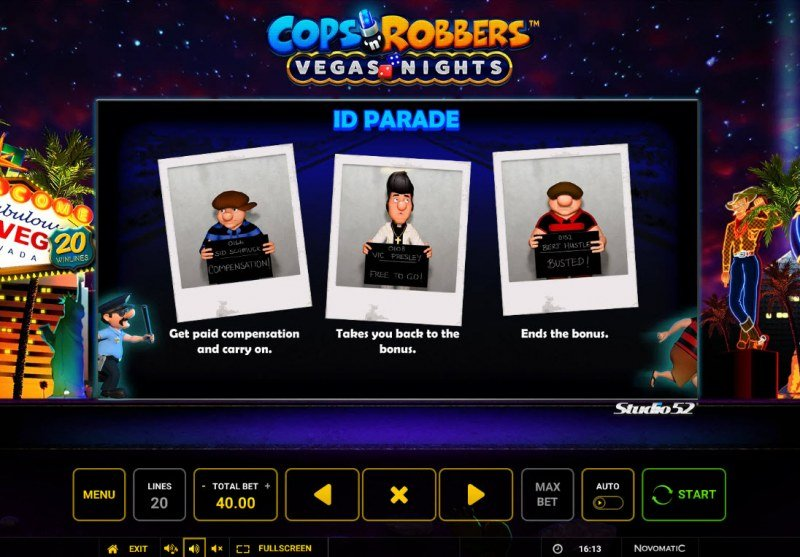 Cops & Robbers Vegas Nights :: Feature Rules