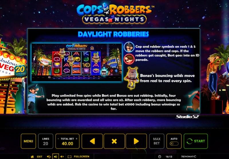 Cops & Robbers Vegas Nights :: Daylight Robberies