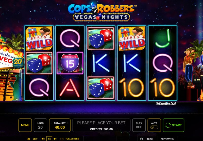 Cops & Robbers Vegas Nights :: Main Game Board
