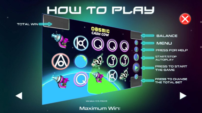 Cosmic Cash Cow :: How To Play