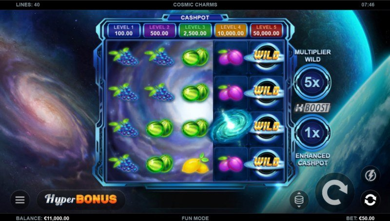 Cosmic Charms :: Base Game Screen