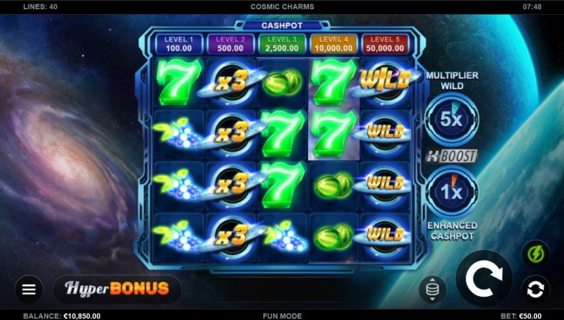 Cosmic Charms :: Multiple winning paylines