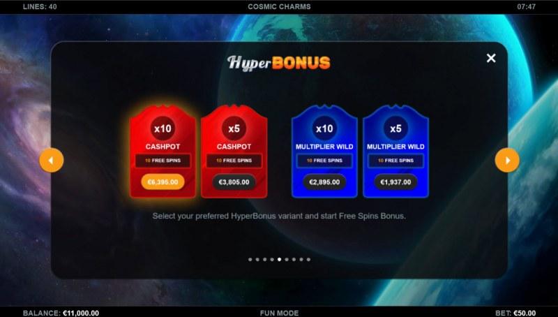 Cosmic Charms :: Hyper Bonus