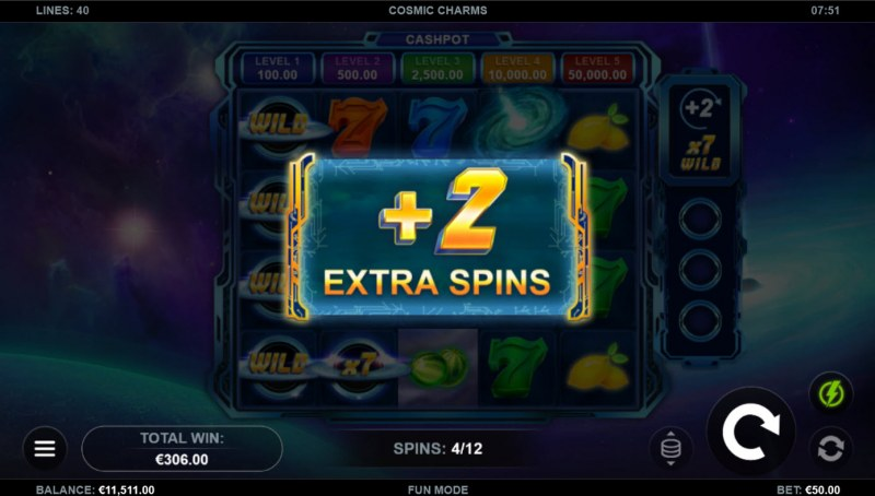 Cosmic Charms :: Extra Free Spins
