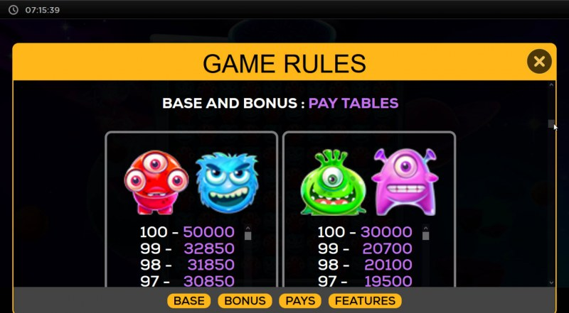 Cosmic Convoy :: Paytable - High Value Symbols