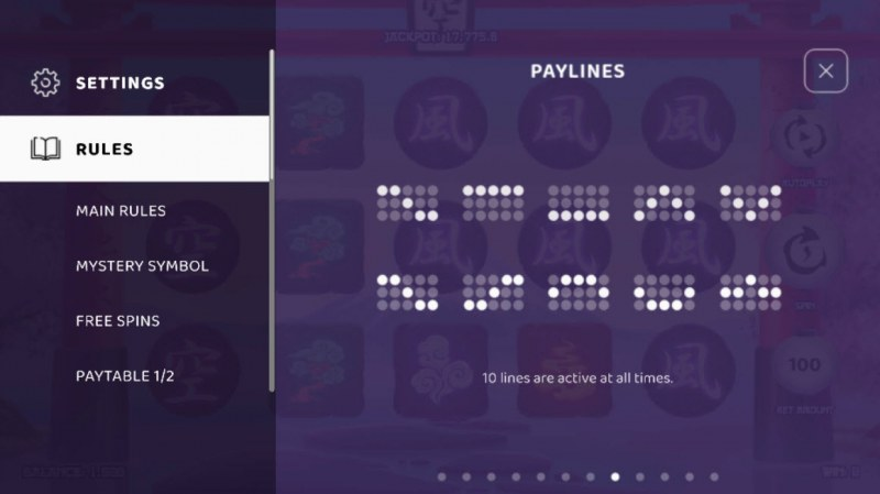 Cosmic Elements :: Paylines 1-10
