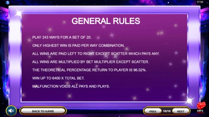 Cosmic Gems :: General Game Rules