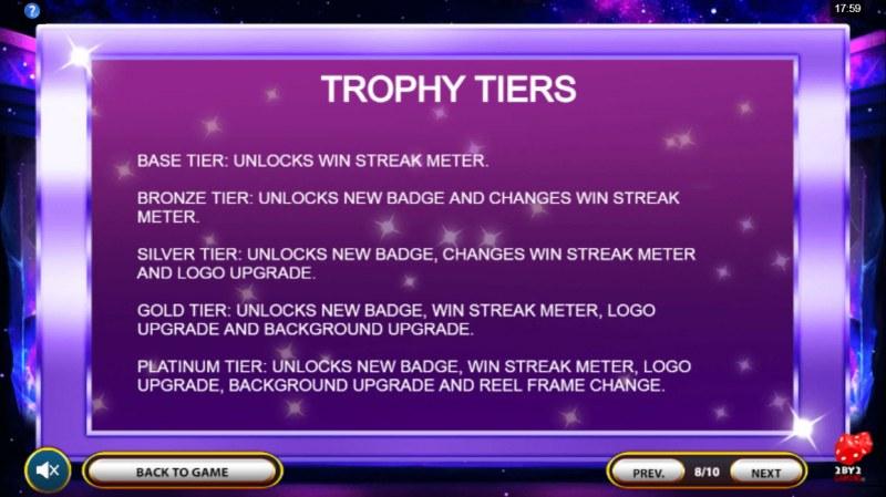 Cosmic Gems :: Trophy Tiers