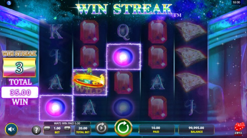 Cosmic Gems :: A three of a kind win