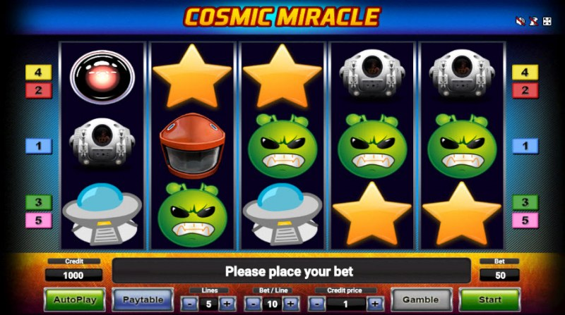 Cosmic Miracle :: Main Game Board