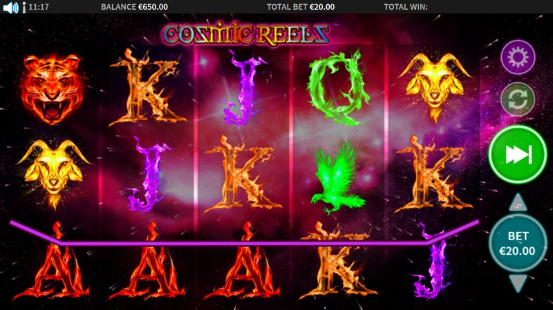 Cosmic Reels :: Three of a kind
