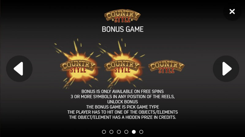 Country Style :: Bonus Game Rules