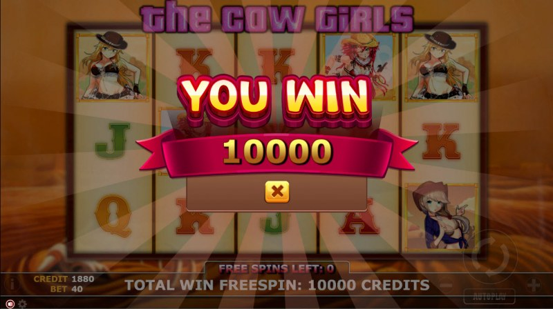 The Cow Girls :: Total free spins payout