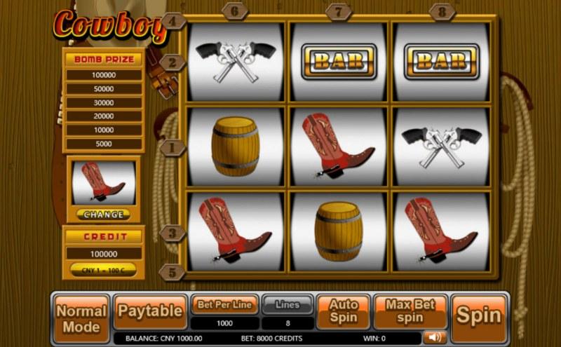 Cowboy :: Main Game Board