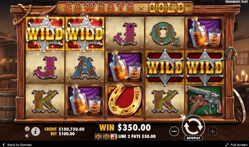 Cowboys Gold :: A pair of winning paylines